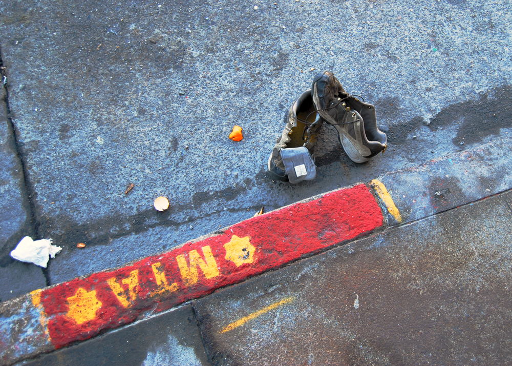 Shoes in the Street ~ San Francisco, California